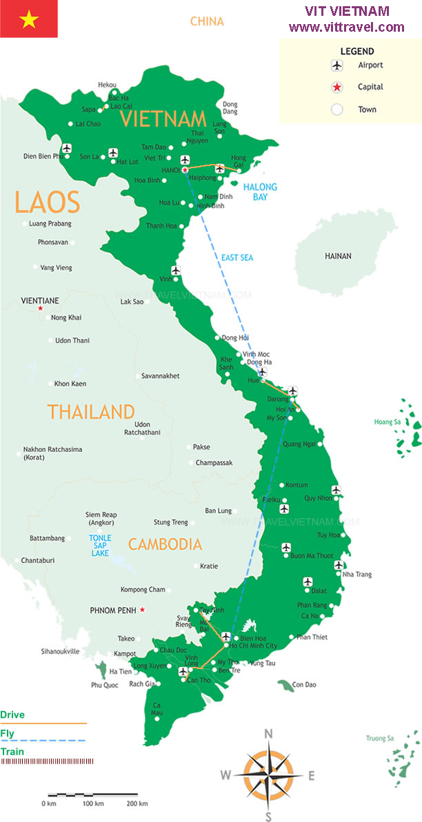 Highlight-of-Vietnam-8days-Vittravel-Map